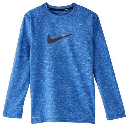 Playera Playa Nike Heather long sleeve hydroguard Azul Kids