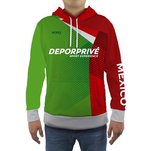 Sudadera Fitness Xceed Hoodie Mexico 2020 Verde Hombre