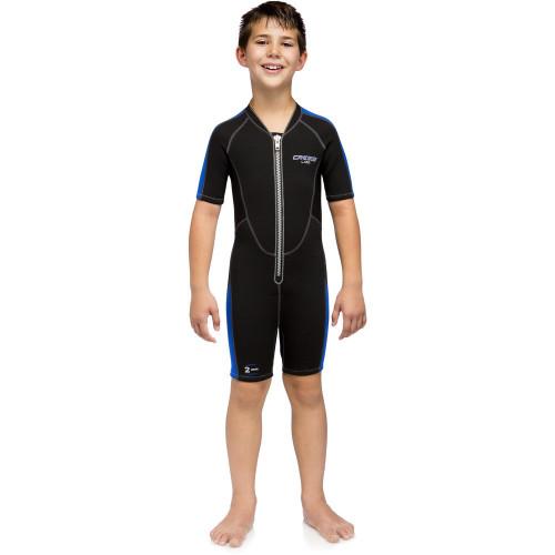 Wetsuit Aguas abiertas Cressi Lido 2 mm Negro Kids