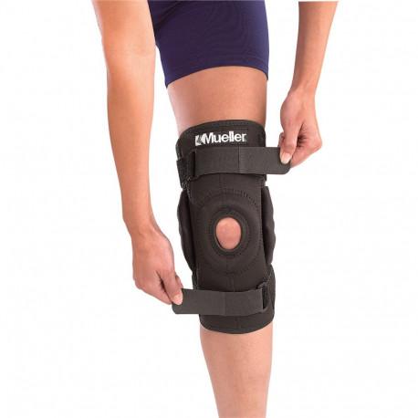 Soporte Fitness Mueller sports medecine Hinged wraparound knee brace Negro Unisex