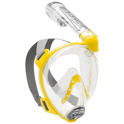 Goggles Aguas abiertas Cressi Mascara Full Face Duke Amarillo