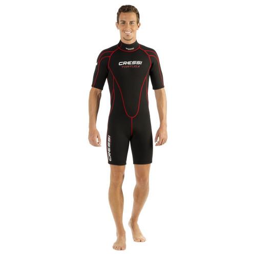 Wetsuit Aguas abiertas Cressi Tortuga Man 2.5mm Negro Hombre