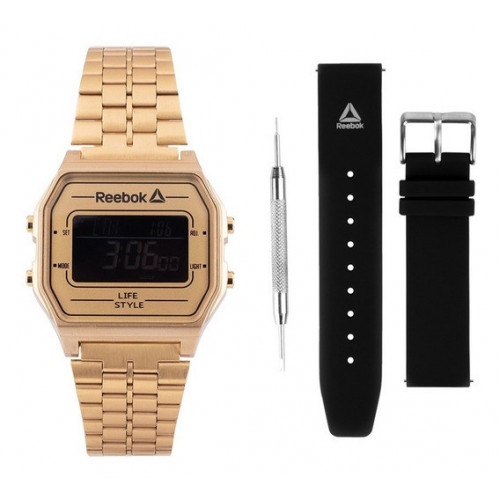 Reloj Lifestyle Reebok Set RBK Digital RDVNEG9P2S2B2N Dorado Hombre