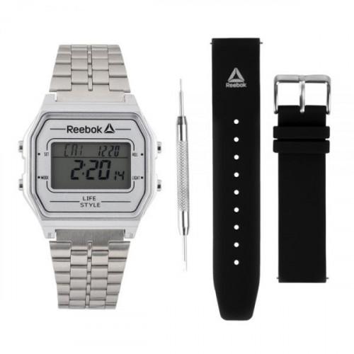 Reloj Lifestyle Reebok Set RBK Digital RDVNEG9P1S1W1N Plateado Hombre