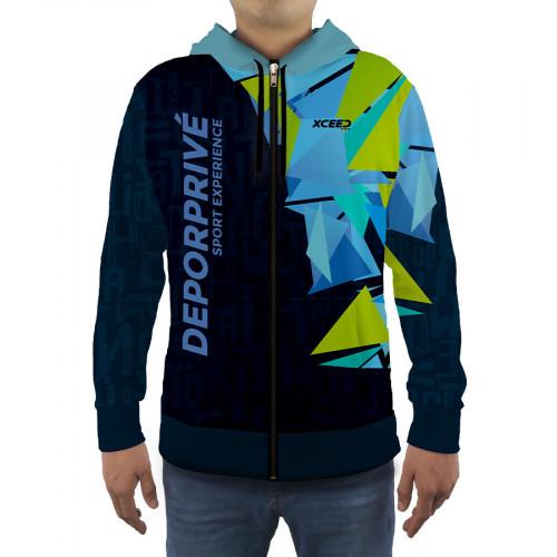 Sudadera Fitness Xceed Hoodie 2020 Azul Hombre