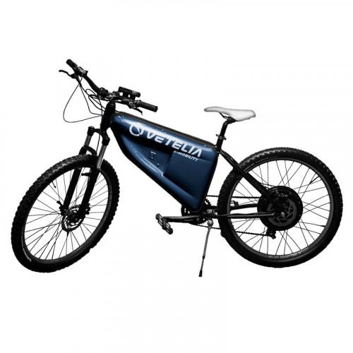 """Electrica Ciclismo Vetelia Multipropósito, rodada 26"""", cuadro aluminio, 1 X 7 V Negro"""