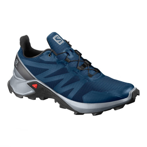 Tenis Trail Running Salomon Supercross Azul Hombre