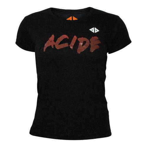 Playera Running Acide Sportswear Blood Negro Mujer