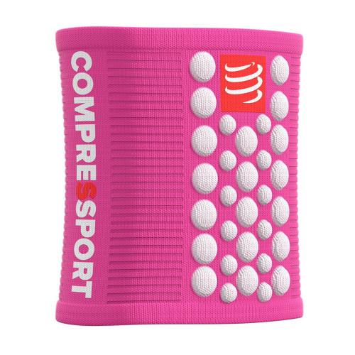 Muñequera Outdoor Compressport Sweatbands 3D Dots V2 Rosa