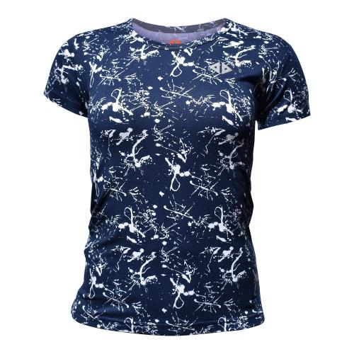 Playera Running Acide Sportswear Paint Marino Azul Mujer