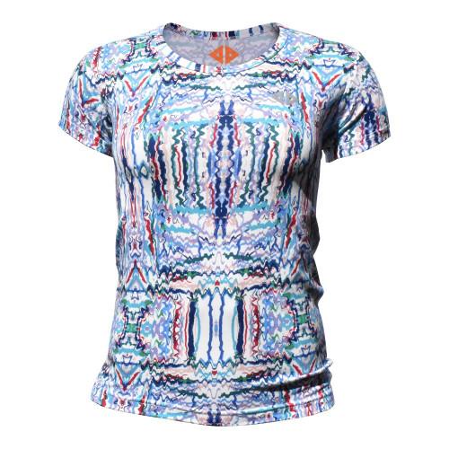 Playera Running Acide Sportswear Electric Multicolor Mujer