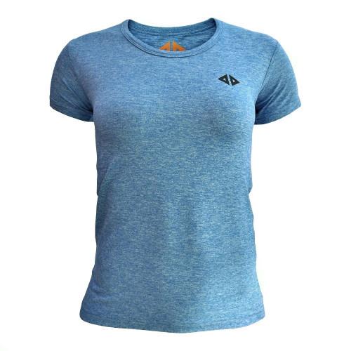 Playera Running Acide Sportswear Cielo Jaspe Azul Mujer
