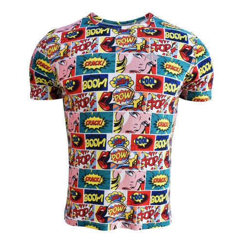 Playera Running Acide Sportswear Comic Multicolor Hombre