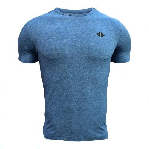 Playera Running Acide Sportswear Azul Cielo Jaspe Azul Hombre