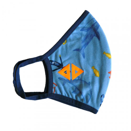 Cubrebocas Lifestyle Acide Sportswear Acuático Azul