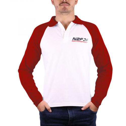 Playera Lifestyle nine2five Polo Motosport Blanco Hombre