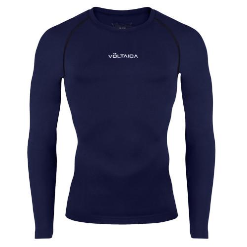 Playera Voltaica Fitness Base Layer Azul Hombre