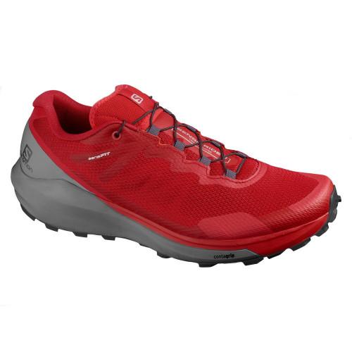 Tenis Trail Running Salomon Sense Ride 3 Rojo Hombre