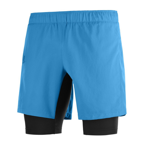 Short Salomon Trail Running Agile Twinskin Azul Hombre