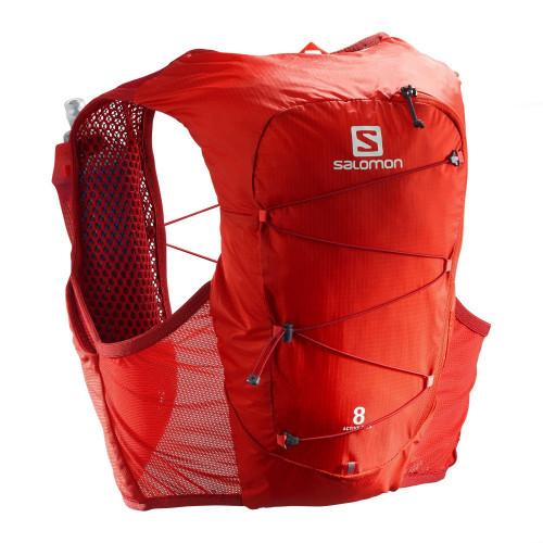 Chaleco Trail Running Salomon Active Skin 8 Set Rojo