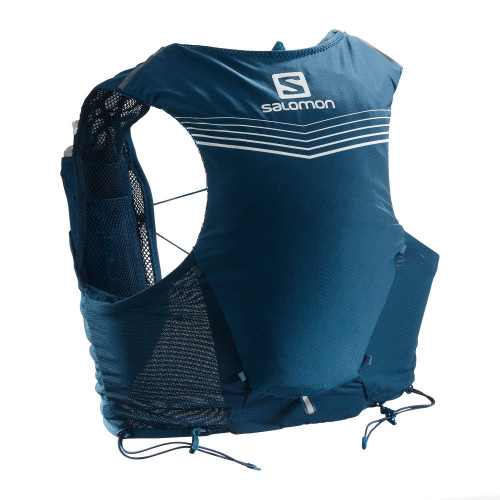 Chaleco Trail Running Salomon Adv Skin 5 Set Azul