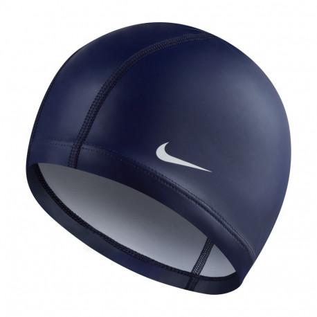 crítico puede Locomotora  Gorro Natación Nike Synthetic coated cap Azul