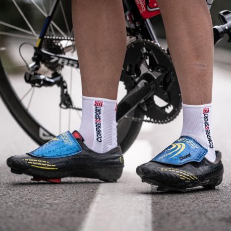 Calcetines Compressport Ciclismo Pro Racing V3.0 Bike Smart Blanco