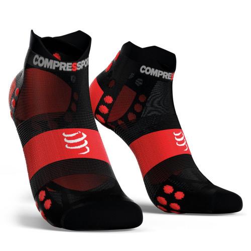 Calcetines Compressport Running Racing V3 Ultralight Low Negro