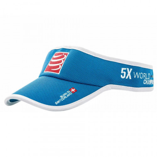Visera Compressport Running Cap Azul