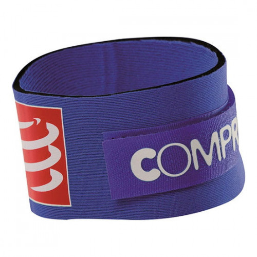 Cinta Compressport Running Timing Chip Azul