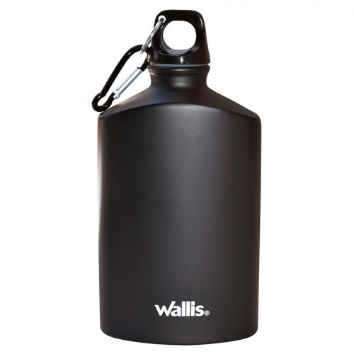 Botella Wallis Campismo Aluminio 500 ml Negro