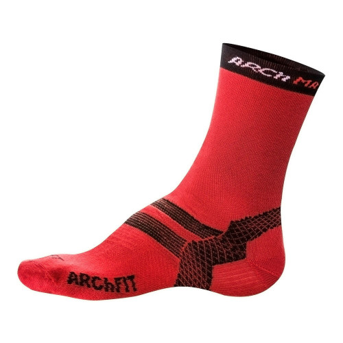 Calcetines Trail Running Arch Max Archfit Trail Medium Rojo