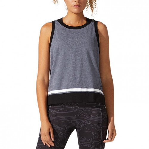 Tank Top Asics Fitness Color Block Gris Mujer