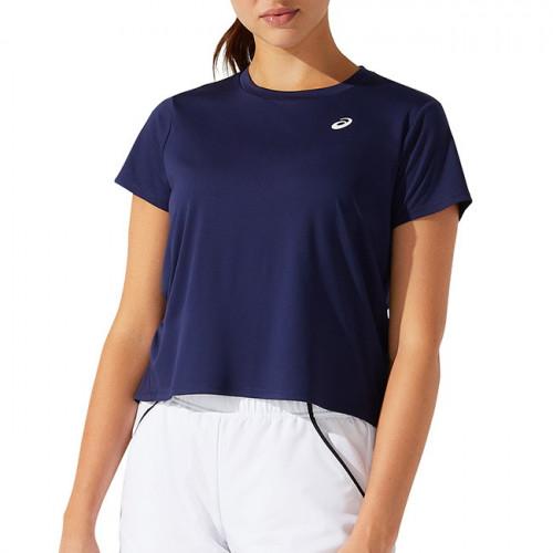 Playera Tennis Asics SS Azul Mujer