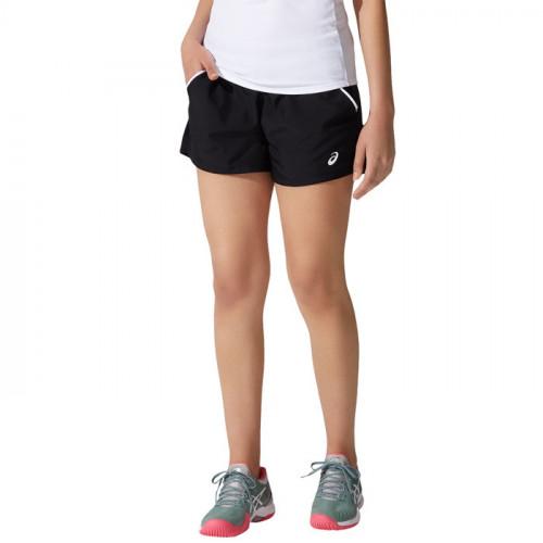 Short Tennis Asics Court Negro Mujer