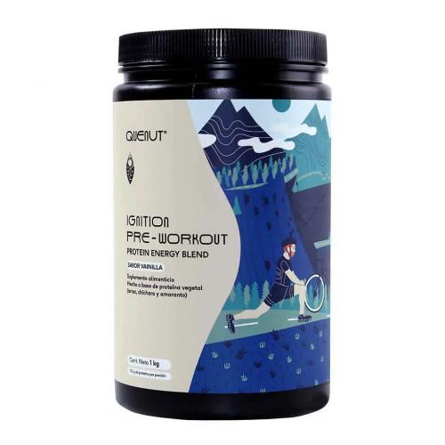 Proteina Trail Running Quenut Ignition - Pre workout energy blend Vainilla Beige