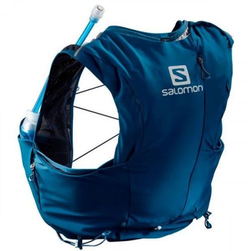 Chaleco de Hidratacion Salomon Trail Running Adv Skin 8 Set Azul Mujer