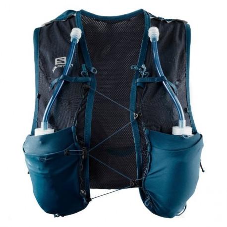 Chaleco de Hidratacion Trail Running Salomon Adv Skin 8 Set Azul Mujer