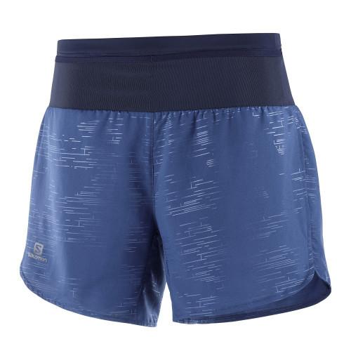 Short Running Salomon Xa Azul Mujer