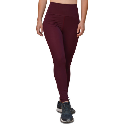 Leggings Fitness Azuid High Waist Vino Mujer