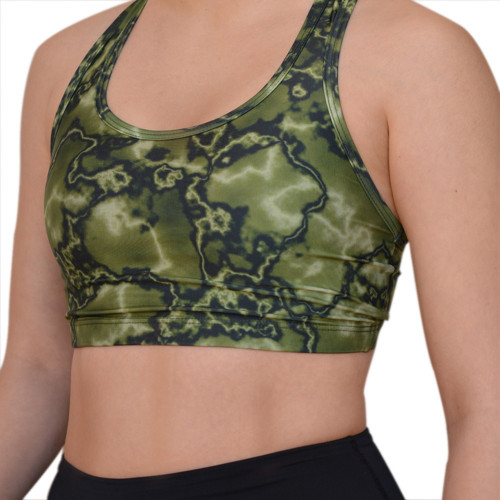 Sports Bra Fitness Azuid Top Corto Basico Verde Mujer
