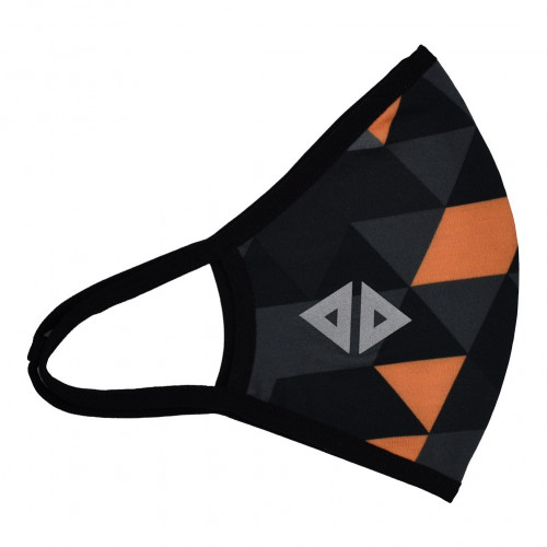 Cubrebocas Running Acide Sportswear Geo Negro
