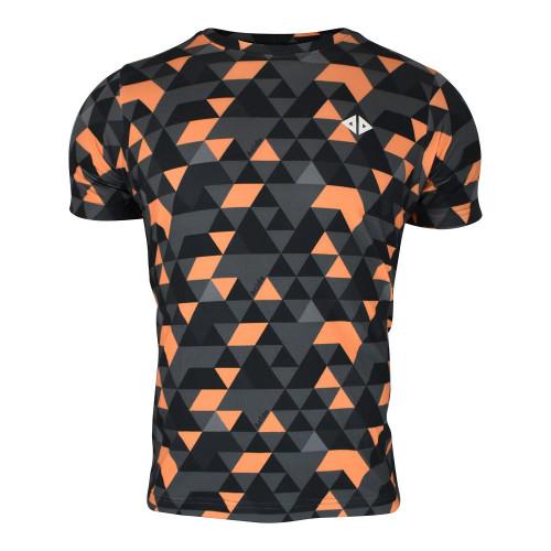 Playera Running Acide Sportswear Geo Black Multicolor Hombre