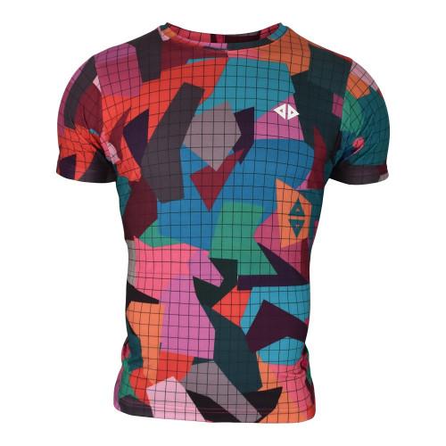Playera Running Acide Sportswear Geo Colors Multicolor Hombre