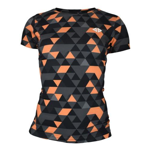 Playera Running Acide Sportswear Geo Black Multicolor Mujer