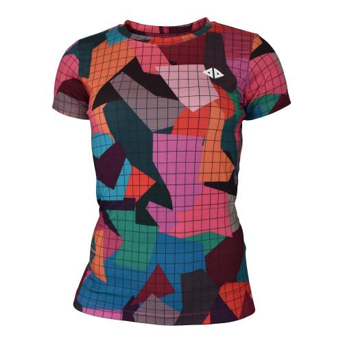 Playera Running Acide Sportswear Geo Colors Multicolor Mujer