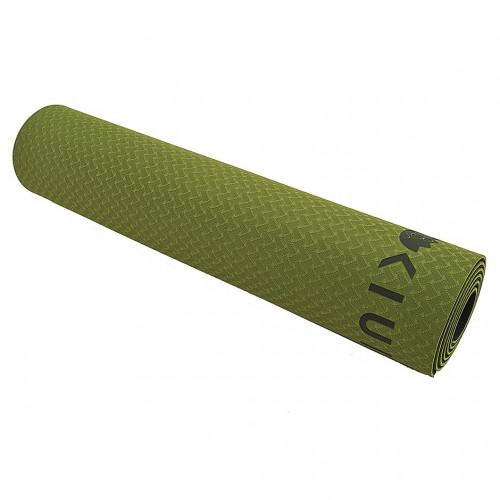 Tapete KIUI Yoga Doble Color TPE Eco Friendly 6mm Verde