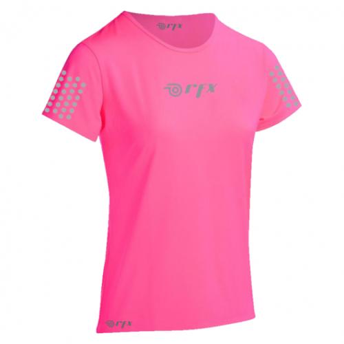 Playera Running RFX Sport Reflejante  Rosa Mujer