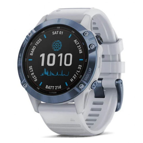 Reloj Garmin Multisport Fenix 6 Pro Solar Blanco