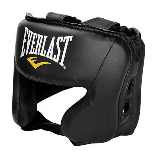 Careta Boxeo Everlast Protector De Everhide De Cabeza Negro